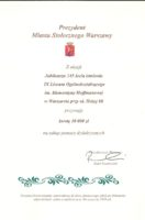 Prezydent Miasta Stołecznego Warszawy – dotacja